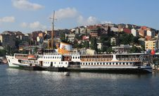 Free Passenger Boat In Halic, Istanbul. Stock Photography - 19956092