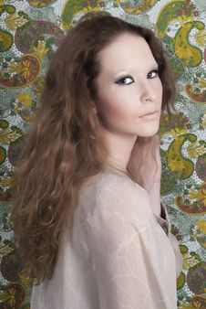 Free Beautiful Woman With Makeup. Fashion Photo Royalty Free Stock Image - 19956176