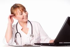 Free Doctor At Work Royalty Free Stock Photos - 19956408