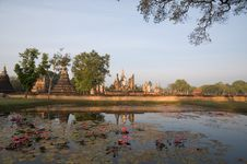 Free Ancient Temple At Sukhothai Historical Park Royalty Free Stock Image - 19956426