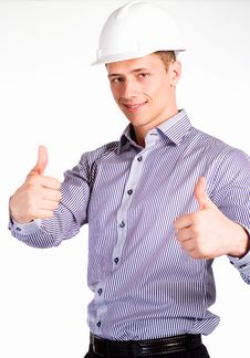Free Nice Worker On White Stock Photography - 19956642