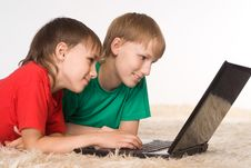 Two Brothers Playing Royalty Free Stock Photography