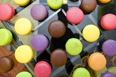 Delicious And Colorful Macarons Stock Photography