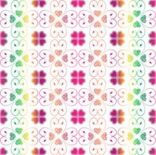 Free Seamless Hearts Pattern Royalty Free Stock Photo - 19956765