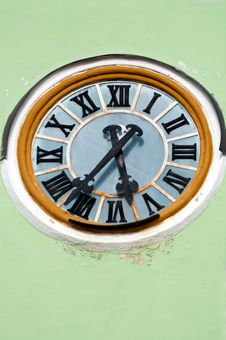 Church Clock Royalty Free Stock Photo