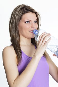 Drinking Water After Sport Stock Photography
