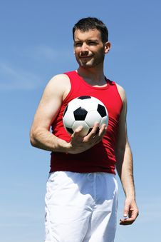 Free Man With Ball Royalty Free Stock Image - 19957546