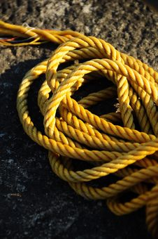Yellow Rope Royalty Free Stock Photography