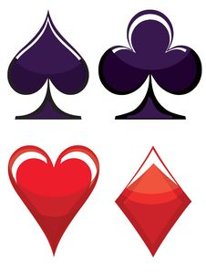 Free Playing Card Symbols Stock Photo - 19958510