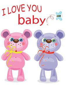 Birthday  Background  Bears Royalty Free Stock Photography