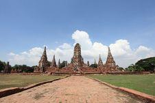 Free Historic City Of Ayutthaya - Wat Chai Wattanaram Stock Photography - 19958672