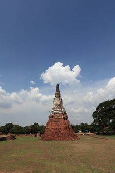 Historic City Of Ayutthaya - Wat Chai Wattanaram Royalty Free Stock Photo