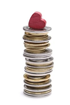 Free Stack Of Uah Coins Royalty Free Stock Image - 19958896