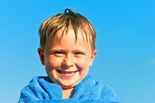 Free Portrait Of Cute Boy At The Beach Stock Photo - 19958940