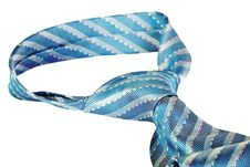 Free Closeup Knot Of Blue Silk Necktie Stock Image - 19959361