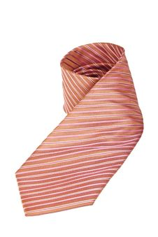 Free Pink Silk Necktie Over White Background Royalty Free Stock Photo - 19959365