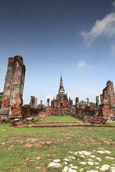 Free Historic City Of Ayutthaya - Wat Phra Si Sanphet Royalty Free Stock Photography - 19959387