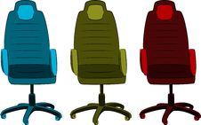 The Office Chair From Imitation Leather Royalty Free Stock Photos