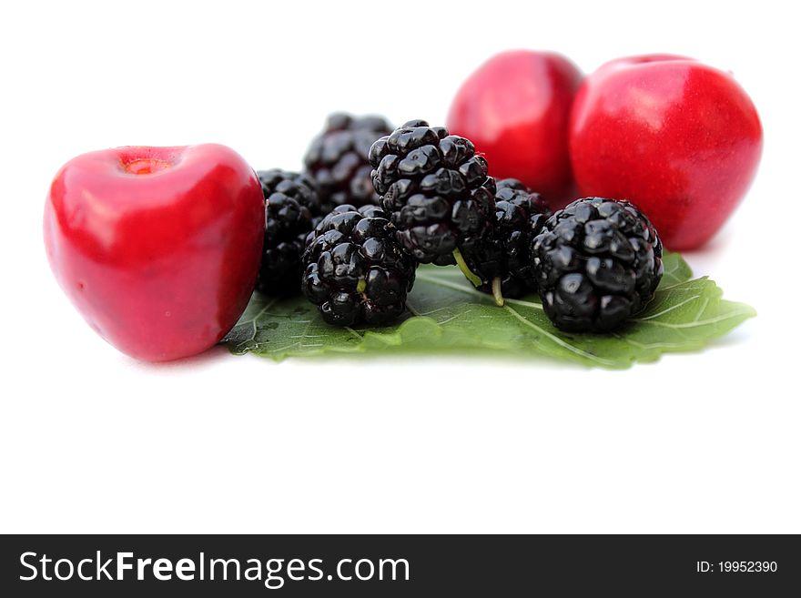 Blackberry, cherry