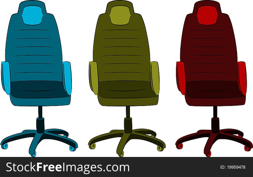 The office chair from imitation leather