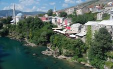 The Town Of Mostar On The Neretva River Royalty Free Stock Images