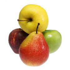 Free Three Apples And Pear Stock Photo - 19961580