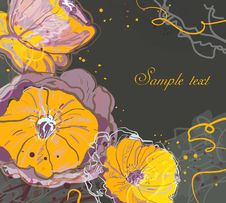 Free Watercolor Floral Background Stock Photography - 19961742