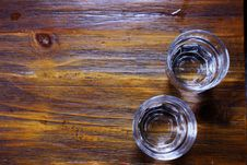 Two Glasses Of Water On Table Stock Image