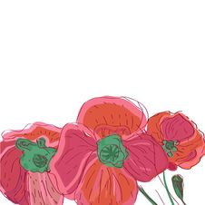 Free Drawing Flowers Royalty Free Stock Photos - 19962118