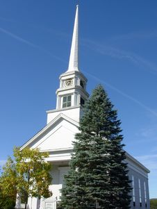 Free Church In Newengland Royalty Free Stock Photos - 19962298