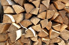Free Chipped Birch Fire Wood Royalty Free Stock Images - 19963559