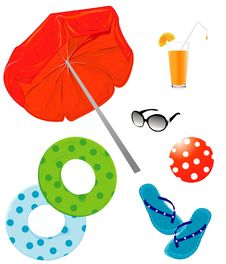 Free Summer Holiday Icons Royalty Free Stock Photography - 19964217