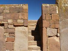 Tiwanaku, Altiplano, Bolivia Royalty Free Stock Photography