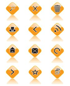 Free Set Of Icons For Sites, Browsers And Others Stock Images - 19964634