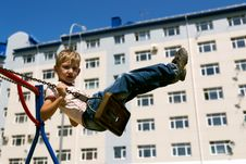Free Boy On A Swing Royalty Free Stock Photos - 19965038