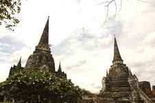 Free Wat Phra Sri Sanphet Ayutthaya Thailand Royalty Free Stock Photography - 19965097