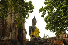 Ancient Image Buddha Statue In Thailand Stock Images