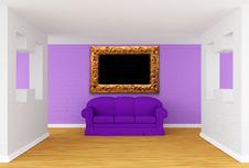 Free Gallery With Purple Sofa Stock Photo - 19965640