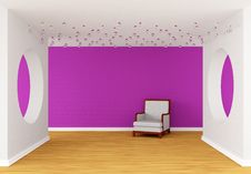 Free Pink Gallery S Hall Royalty Free Stock Image - 19965826