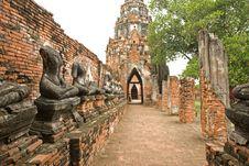 Ruin Buddha Statue Stock Image