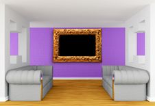Free Gallery S Hall With Luxurious Sofas Royalty Free Stock Photography - 19966087