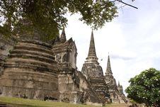 Free Wat Phra Sri Sanphet Ayutthaya Thailand Stock Images - 19966844