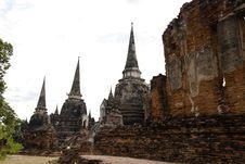Free Wat Phra Sri Sanphet Ayutthaya Thailand Royalty Free Stock Image - 19966986