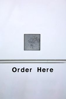 Order Here Stock Photo