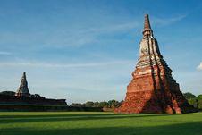 Free Old Pagoda At Ayutthaya In Thailand Stock Photography - 19967012