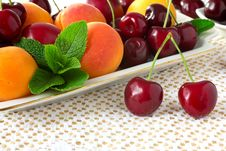 Free Cherries. Royalty Free Stock Images - 19967389