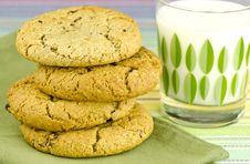 Oatmeal Raisin Cookies Royalty Free Stock Photo