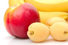 Free Red And Yellow Background Of Fruits Royalty Free Stock Image - 19969836