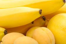 Free Yellow Background Of Fruits Stock Images - 19969844