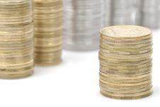 Free Stacks Of Coins Stock Photography - 19969862